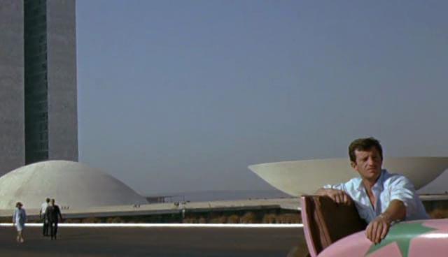 Jean-Paul Belmondo amid the futuristic architecture of Brasilia: That Man From Rio (1964)