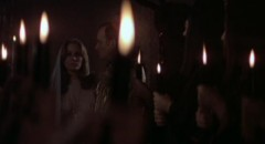 Karen Black at the subdued Black Mass in Harvey Hart's The Pyx (1973)