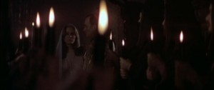 Karen Black at the subdued Black Mass in Harvey Hart's The Pyx (1973)