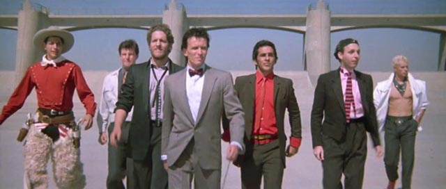 Buckaroo Banzai and the Hong Kong Cavaliers in W.D. Richter's The Adventures of Buckaroo Banzai Across the 8th Dimension (1984)