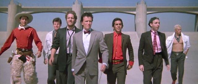 Buckaroo Banzai and the Hong Kong Cavaliers in W.D. Richter's The Adventures of Buckaroo Banzai Across the 8th Dimension (1984)