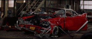 Christine, the classic Plymouth Fury which possesses high-schooler Arnie in John Carpenter's Stephen King adaptation