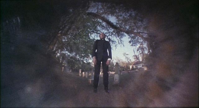 The suicidal priest who unleashes the fury of Hell in a small New England town in Lucio Fulci's City of the Living Dead (1980)