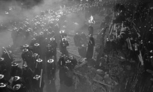 The oppressive religious, political forces of the ruling elite in Aleksei German's science fiction epic Hard to Be a God (2013)