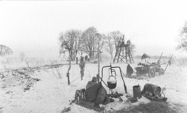 Aleksei German's science fiction epic Hard to Be a God (2013) ends in a bleak winter silence