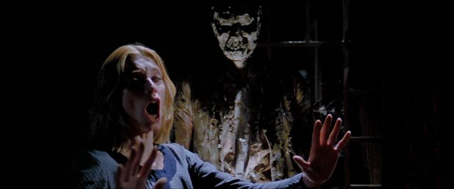 Cinzia Monreale tormented by escapees from Hell in Lucio Fulci's The Beyond (1981)