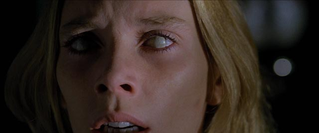 Eyes are ubiquitous in Italian horror; the inability to see, seeing without understanding ... Cinzia Monreale in Lucio Fulci's The Beyond (1981)