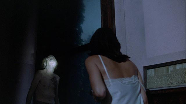 Cristina Raines as Alison Parker confronts the spectre of her dead father in Michael Winner's The Sentinel (1977)