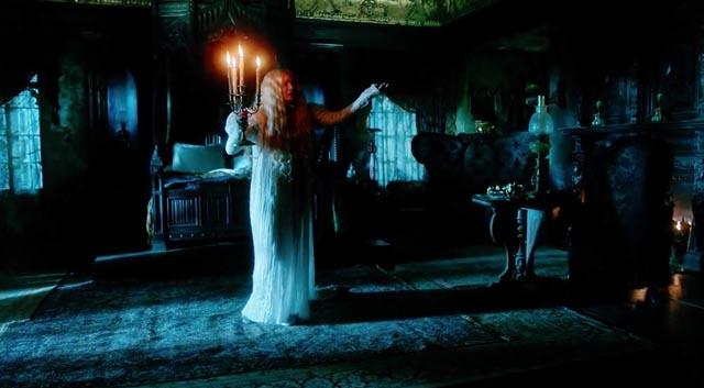 Mia Wasikowska as heroine Edith Cushing in Guillermo Del Toro's Gothic romance, Crimson Peak (2015)