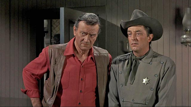 John Wayne and Robert Mitchum add their star authority to Howard Hawks' leisurely western, El Dorado (1966)