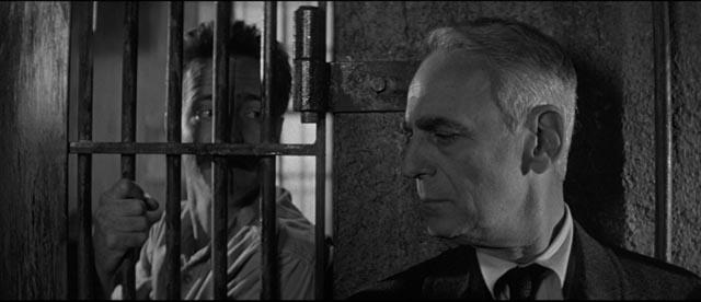 Paul Stewart as reporter Jensen, Brooks' spokesman in the film In Cold Blood (1967)