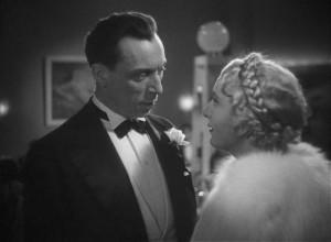 Louis Jouvet as the failed lawyer turned criminal Pierre Verdier with Marie Bell as Christine in Julien Duvivier's Un carnet de bal (1937)
