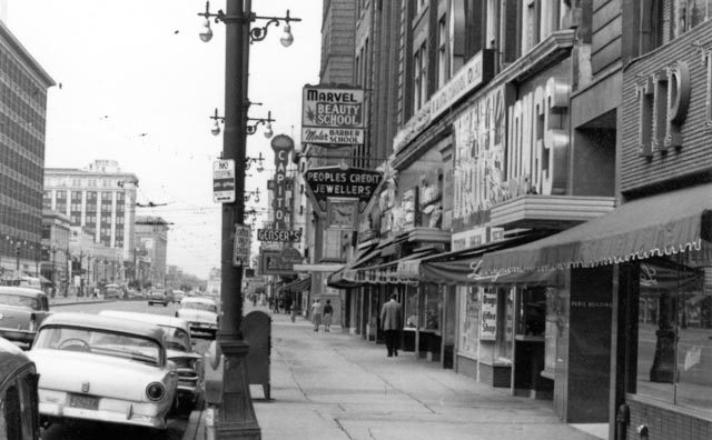 The Capitol marquee on Portage Avenue in the '60s (Winnipeg Archive)