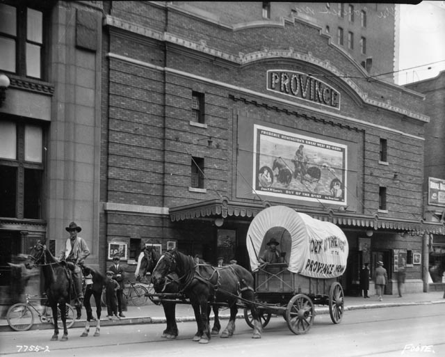 The Province theatre, at the corner of Portage Avenue and Notre Dame (courtesy Owen Clark)