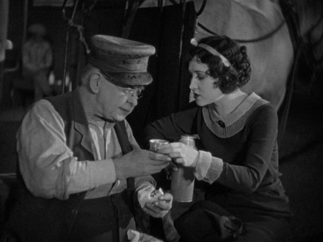 Bert Woodruff as Pop Dillon and Ann Christy as Jane in Harold Lloyd's Speedy (1928)