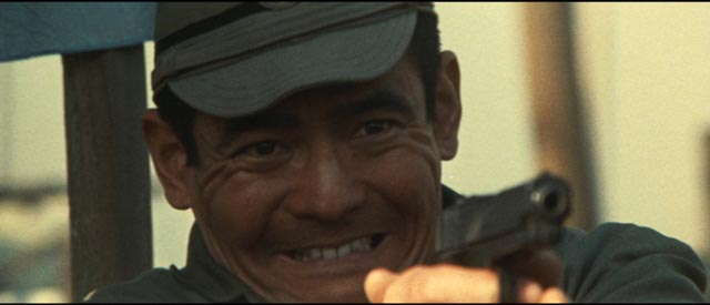 Bunta Sugawara as Shozo Hirono, the violent spirit of Japanese post-war economic recovery in Kinji Fukasaku's Battles Without Honor and Humanity