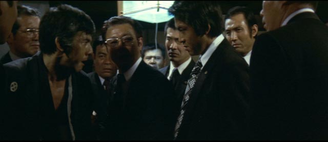 Men in suits filled with rage: the distinctive Joe Shishido in part 5 of Kinji Fukasaku's Battles Without Honor and Humanity: Final Episode