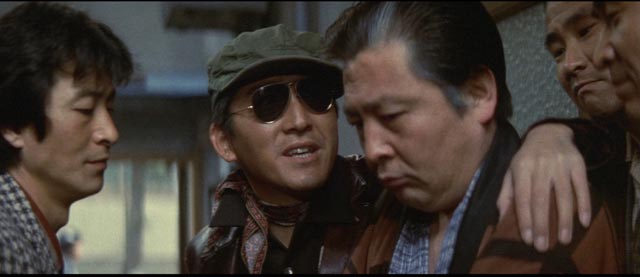 Fukasaku's framing emphasizes the impossibility of escape from this closed society in Battles Without Honor and Humanity