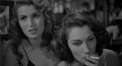 Silvana Mangana and Doris Dowling as two women trying to survive in postwar Italy in Giuseppe De Santis' Bitter Rice (1949)