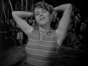 Silvana's seductive dance, which attracts the attention of thief Walter in Giuseppe De Santis' Bitter Rice (1949)