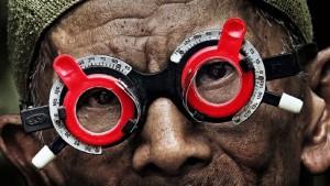 The eyes of a killer in Joshua Oppenheimer's The Look of Silence (2014)