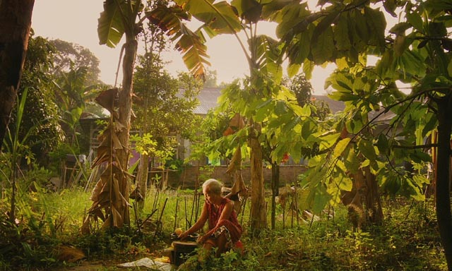 Adi's mother, stoically living for decades among those who murdered her son in Joshua Oppenheimer's The Look of Silence (2014)