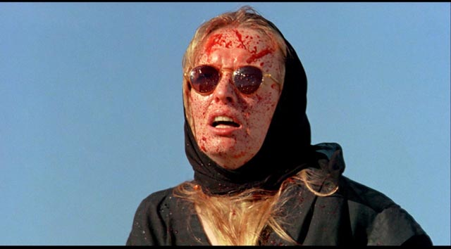 Lindsay Duncan as Dolphin Blue: a fateful association with blood in Philip Ridley's The Reflecting Skin (1990)