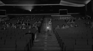 The aspiring actress works as an usher in a movie theatre in Antonio Pietrangeli's I Knew Her Well (1965)