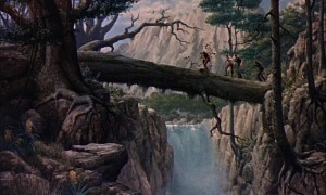 One of the many beautiful matte paintings in Cy Endfield's Mysterious Island (1961): it's unclear who painted them