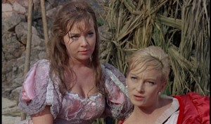 Beth Rogan and Joan Greenwood as a pair of plucky upper class castaways in Cy Endfield's Mysterious Island (1961)