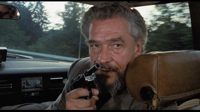 Paul Scofield as high-ranking KGB man Zharkov, more trustworthy than Cross' CIA bosses in Michael Winner's Scorpio (1973)