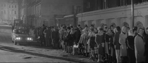 The frightened public lining up for their vaccinations in Val Guest's 80,000 Suspects (1963)