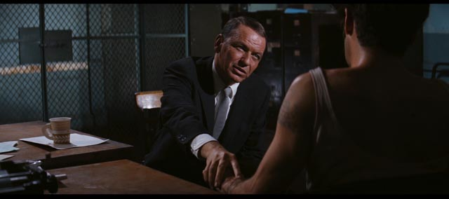 Frank Sinatra's Joe Leland expresses empathy for psychotic gay Felix (Tony Musante) in Gordon Douglas' The Detective (1968)