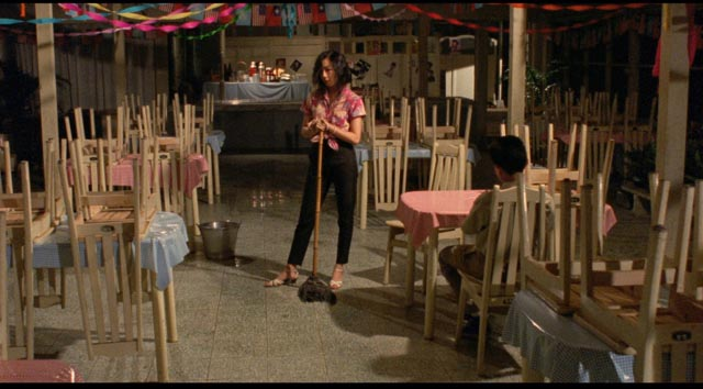 Sex Bomb (Jung Chun-lung) in the cafe hangout which offers a rare bright spot for the kids in Edward Yang's A Brighter Summer Day (1991)