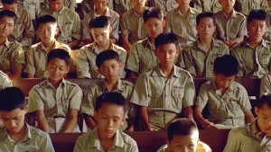 Si'r in the oppressively regimented environment of school in Edward Yang's A Brighter Summer Day (1991)