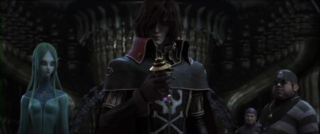 Impressive visuals can't quite compensate for a murky script in Space Pirate Captain Harlock (2013)