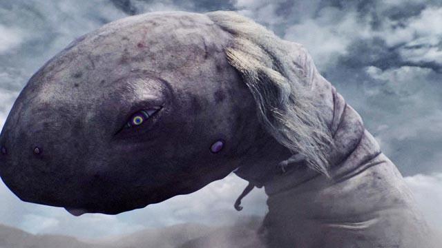 The giant kaiju unleashed in Takashi Murakami's Jellyfish Eyes (2013)