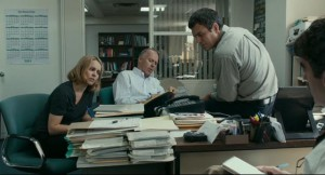 The news team at work in Tom McCarthy's Spotlight (2015)