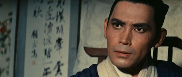 Shih Jun as Gu Shengzhai, the gentle scholar who becomes embroiled in deadly intrigue in King Hu's A Touch of Zen (1971/75)