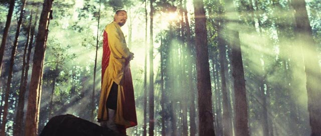 Abbot Huiyuan (Roy Chiao) straddles the border between this world and a higher plane in King Hu's A Touch of Zen (1971/75)