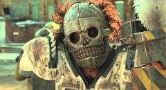 Edwin Wright as Zeus' power saw-wielding henchman Skeletron in Turbo Kid (2015)