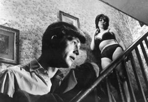 Joe and Isla in his seedy rooming house in Michael Winner's West 11 (1963)