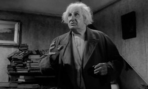 Finley Currie as the eccentric Mr. Cash who offers Joe philosophical advice in Michael Winner's West 11 (1963)