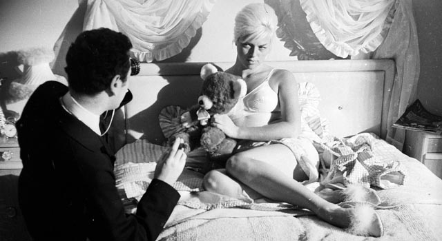 Michael Winner directs Diana Dors on the set of West 11 (1963)