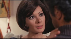 Edwige Fenech as Floriana, the seductive interloper in Sergio Martino's giallo Your Vice Is a Locked Room and Only I Have the Key (1972)
