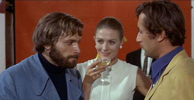 Leonardo Ferri (Franco Nero), repulsed by the social demands of commercialized art in Elio Petri's A Quiet Place in the Country (1968)