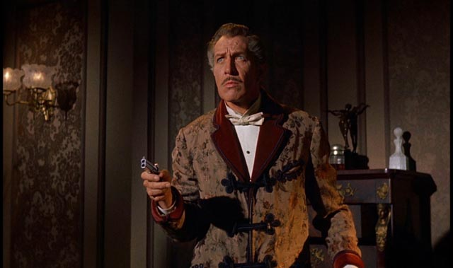 Price as Magistrate Cordier, tormented by the malevolent Horla in Reginald Le Borg's Diary of a Madman (1963)