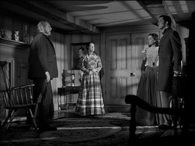 Nicholas Van Ryn (Vincent Price) comes to Connecticut to claim his bride Miranda (Gene Tierney) in Joseph L. Mankiewicz's Dragonwyck (1946)