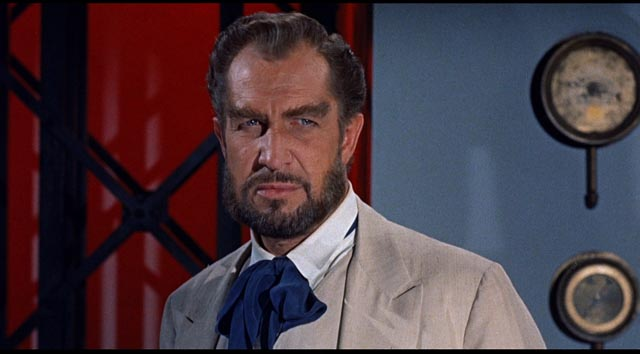 Vincent Price as Captain Robur, builder of the airship Albatross in William Whitney's Master of the World (1961)