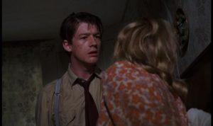 Timothy Evans, venting his frustration in anger, dooms himself in Richard Fleischer's true-crime movie 10 Rillington Place (1971)
